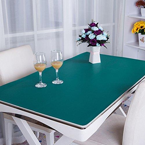 Nappes Toile de table en PVC, tapis de bureau Tapis de bureau Tapis de table pour ordinateur Étui professionnel Étui de bureau Station opérateur 3.5mm Nappe ( Couleur : Vert , taille : 80*130cm )