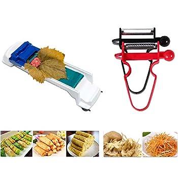 Dolma Roller Machine Sushi Vegetable Meat Roller Stuffed Grape Leaves Egg Spring Rolling Tool 2 x Vegetable Fruit Peeler Included
