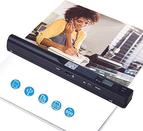 Tenlso Dokumentenscanner Handscanner, 900DPI-Handdrucker und Scanner für Fotos, Quittungen, Dokumente, mobiles USB-Scan-A4-Farbbild in 3 Sekunden, JPG/PDF-Format für Computer, Laptop