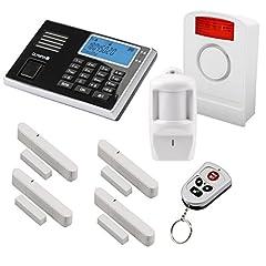 Olympia Protect 9061 Radio Alarm System Super Set - GSM Smat med App - Trådlös - Fönster & Dörr | Inbrottslarmsystem med rörelsedetektor för hus & lägenhet | Trådlöst larmsystem, hemlarm med fjärrstyrningsutbyggbart larmsystem