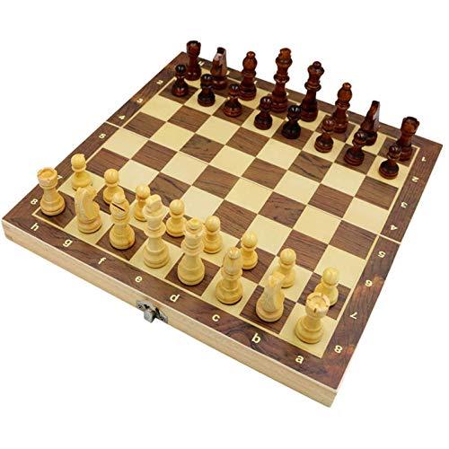 LINWEI Schachholz, Faltbare Protokolle, Kinderschach, magnetische Schachfiguren, grüne Farbe Verarbeitung eingebettet