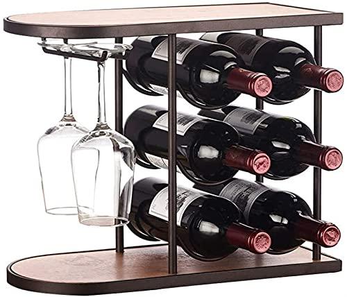 Estante de Vino de Moda Decoración del Estante de Vino del Estante de Vino, Estante de Cristal de Vino de Tres Niveles