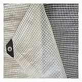HAI RONG Lona transparente de rejilla profesional transparente, 220 g/m², lámina de invernadero para invernadero, jardín, celosía, lámina resistente a los rayos UV, 23 tamaños