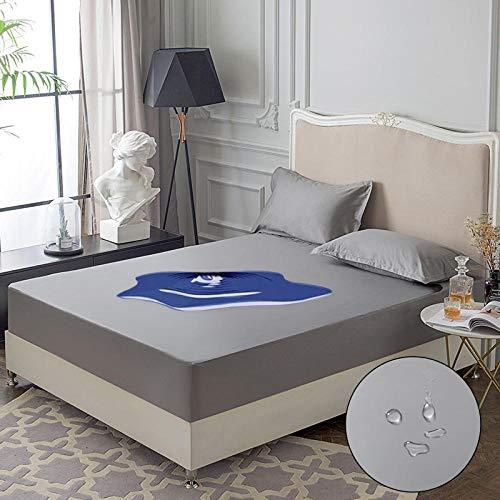 RESUXI matrasbeschermer, waterdichte eendelige dekbedovertrek, urine-proof ademende matrasbescherming, stofhoes
