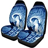 Fall Ing Fundas para asientos de automóviles Escaneo Resonancia magnética Mri Of The Brain Xray Child Auto Accesorios Protectores Universal