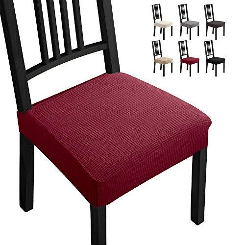 Coprisedie con 4 pezzi Moderno Coprisedia Elastico Coprisedia seduta coprisedia antimacchia Coprisedia molto facile da pulire e di lunga durata per la sala da Hotel,Ristorante Decor(4 pezzi,Bordeaux)B