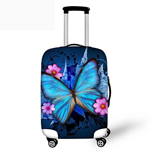 Coloranimal Elastischer Gepäckbezug, Schmetterlingsdruck, 45,7 - 76,2 cm, Trolley