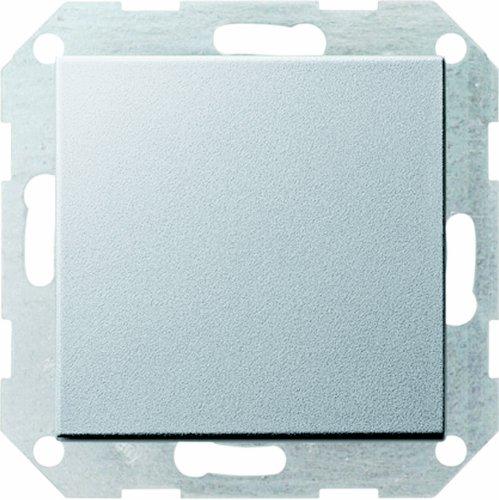 Gira Tastschalter 012726 Kreuzschalter System 55 Farbe Alu, 250 V, Aluminium