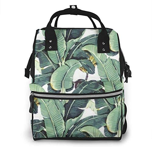 Diaper Bag Backpack Travel Bag Large Multifunction Waterproof Martinique Banana Leaf Stylish and Durable Nappy Bag for Baby Care School Backpack