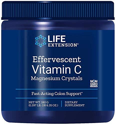 Life Extension Effervescent Vitamin C Magnesium Crystals, 180g