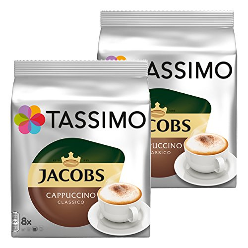 Tassimo Jacobs Krönung Cappuccino , 2er Pack (2 x 8 Portionen)