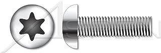 (4000 pcs) M3-0.5 X 8mm, ISO 7380-1, Metric, Button Head Cap Screws, 6-Lobe Torx(r) Drive, A2 Stainless Steel