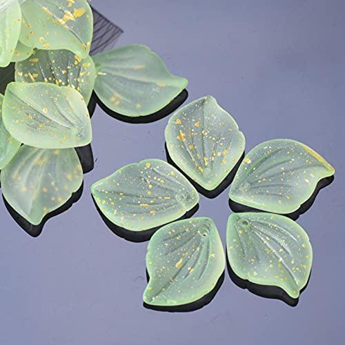 ZXCM 10 unids 19x25mm Flor pétalo Forma Cristal lámpara de Cristal Vidrio Suelto Top Colgantes Perforados Perlas Lote para joyería Bricolaje Haciendo hallazgos