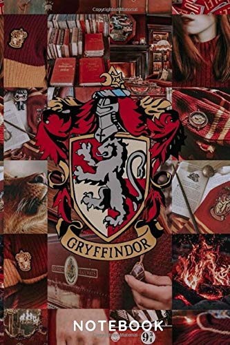 Harry Potter: Gryffindor| Notebook , Journal | Perfect for Birthday gifts and Fan club members: Perfectly Lined journal ,120 pages , 6x9 inches