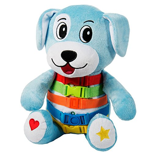 Buckle Toy - Barkley Dog - Plush Animal Learning Toy - Develop Fine Motor Skills - Counting and Color Recognition