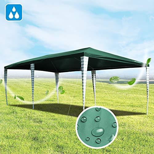 Hengda Cenador de jardín 3 x 6 m con protección UV para Fi