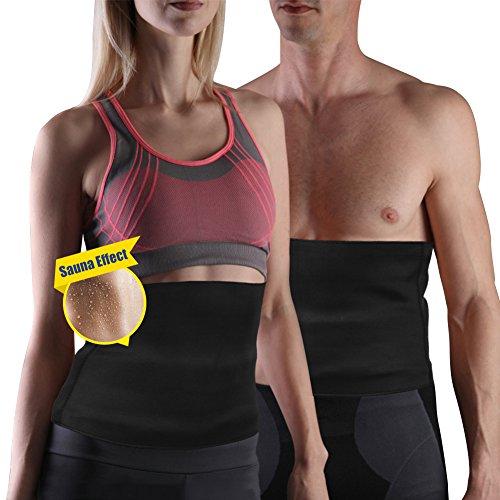 Yosoo Gorset wyszczuplający pas pas biodrowy wzmacniający pot neopren termalny utrata masy ciała wyszczuplający gorset pas do sauny dla mężczyzn i kobiet