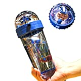 D.O.T Shooting Basketball Games Water Bottle BPA Free Water Cup for Office/Home,16 OZ (blue)