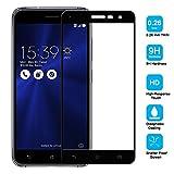 2 Pack Asus Zenfone 3 ZE552KL(5.5') Protector de Pantalla,Electro-Weideworld 3D Pro-Fit Pantalla Completa Cristal Templado Pantalla protectora para Asus Zenfone 3 ZE552KL(5.5'),Bordes curvados - Negro