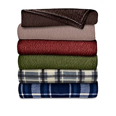 Sunbeam Fleece Heated Throw Blanket, Assorted Colors and Patterns (THF8QA-R001-31A00)