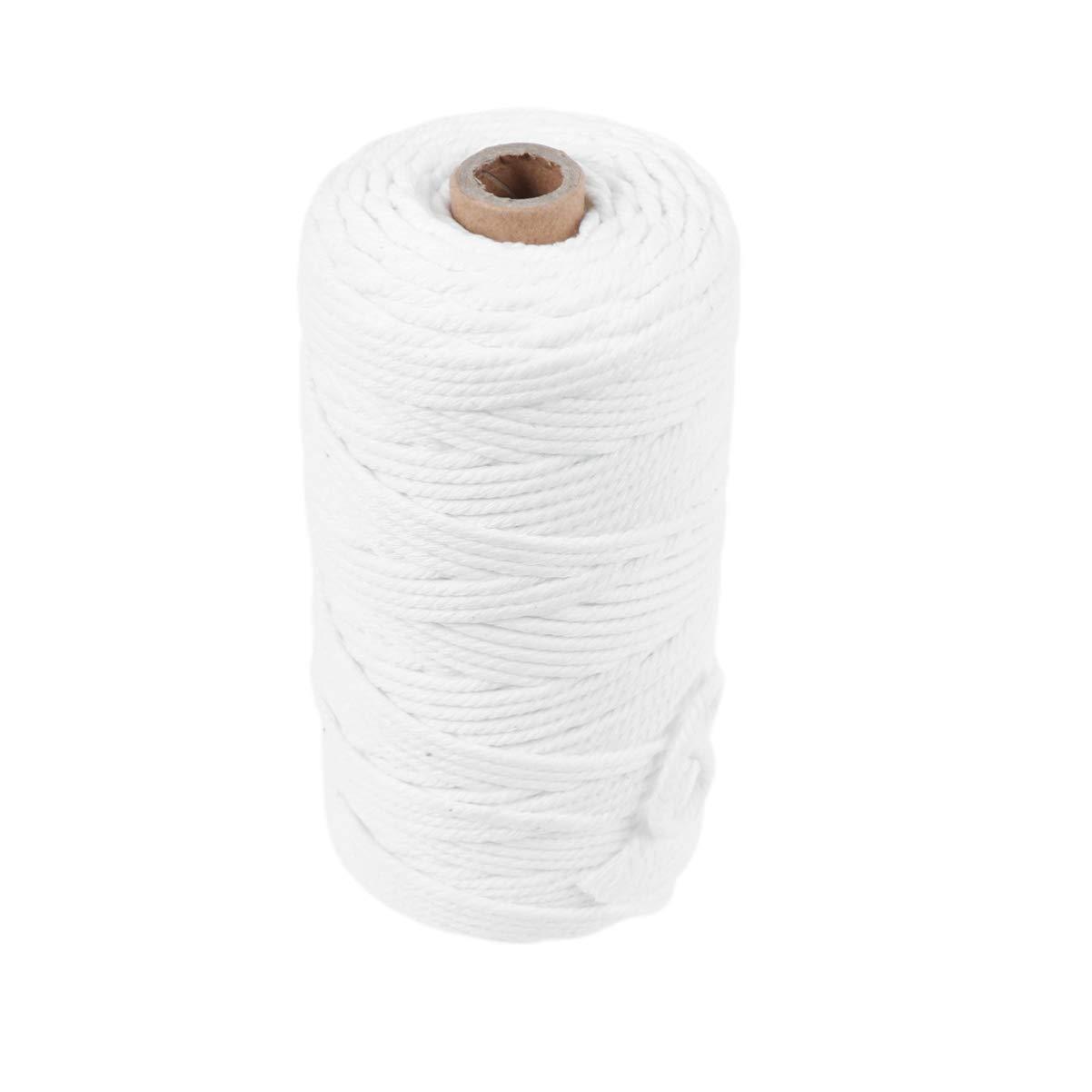 SUPVOX 100m 3mm Cable de algodón Suave Tapiz de Cuerda Artesanal ...