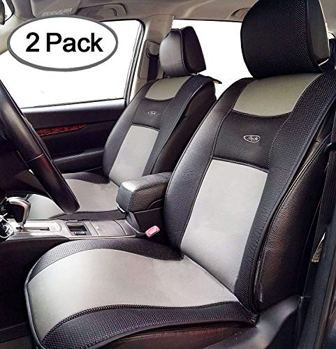 Big Ant Breathable 2 PCS Universal Car Seat Cushion Covers for Car,Truck,SUV,or Van - Best Protector Seats Mat for Driver,Child, Baby Chair&Pet - Non-Slip Rubber-Soled - Black&Gray