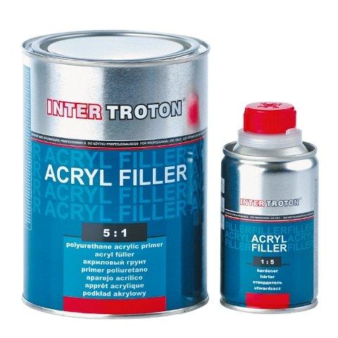 Troton HS FÜLLER GRUNDIERUNG 2K Acryl Primer 5:1 0,8L Grau + HÄRTER 0,16L Inter