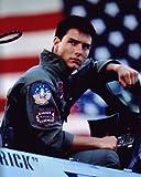 大きな写真、「トップガン」F14操縦席のトム・クルーズ