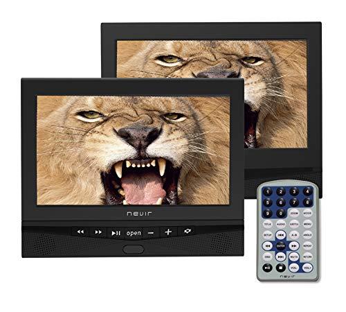 Nevir DVD PORTATIL 10.1 X2 NVR-2778DVD-PDCU Negro USB