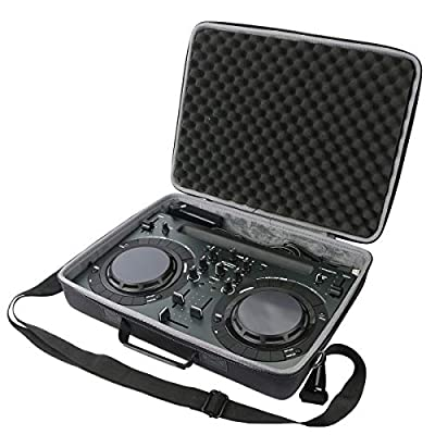 co2CREA Hard Travel Storage case for Pioneer DJ DDJ-200 /DDJ-200 Smart/Pioneer DJ DDJ-WeGO4-K/DDJ-WEGO3 DJ Controller (Travel Protective Case Only)