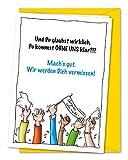 XL-Karte zum Abschied von Kollegen oder Freunden in Rente, Ruhestand, Umzug, Ausland inkl. Umschlag...