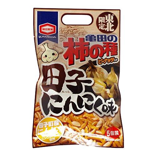 亀田製菓 亀田の柿の種 東北限定 田子にんにく味 110g 1袋 アジカル