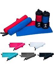 Funny Tree® Microvezel handdoeken, sneldrogend, ruimtebesparend, ultralicht, reishanddoek, sporthanddoek, yoga, fitness, strand, UVM, in verschillende maten, kleuren en als set