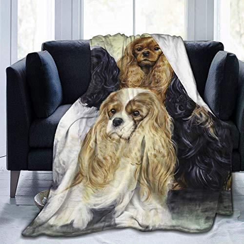 Meloci Decke Cavalier King Charles Spaniel Ckcs Hund Full Fleece Throw Cloak Tragbare Decke Kinderzimmer Schlafzimmer Bettwäsche Dekor Flanell 50 * 60 Zoll