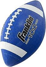 Franklin Sports Junior Football - Grip-Rite 100 - Kids Junior Size Rubber Football - Youth Football - Durable Outdoor Rubber Football - Blue/White