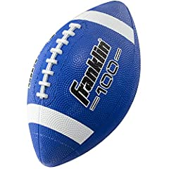 DURABLE KIDS FOOTBALL: These junior footballs are constructed from a durable, high-grip, deep-pebbled rubber that stands up to wear and tear on grass, concrete, or any other surface EASY GRIP: The deep-pebble surface material and pro style raised lac...