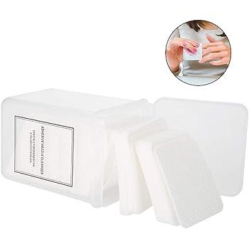 Almohadilla de algodón para uñas, Almohadilla removedora de esmalte 200 piezas/set Manicura Limpiador removedor de gel para el esmalte Limpiar la almohadilla de algodón sin pelusa: Amazon.es: Belleza