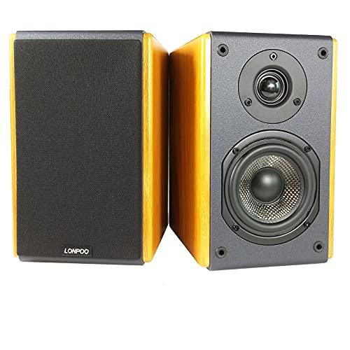 LONPOO LP42X Altavoz de estantería Activo, Altavoces de estantería de Audio para...