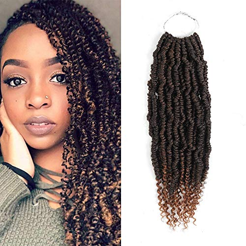 6Packs Spring Twist Crochet Hair 14-Zoll-Ombre-Farben Bomb Twist Crochet Hair Braids Synthetische Flecht-Haarverlängerungen für Zöpfe(6pcs, T30)