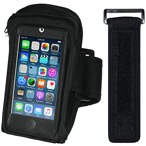 i2 Gear Armband Case Compatible with iPod Touch 7th, 6th & 5th Generation Devices - Workout MP3 Holder for Running and Exercise with Zipper Pocket & Adjustable Arm Band (20 inch)
