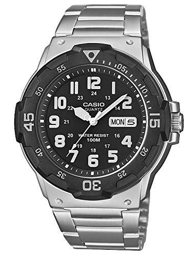 CASIO Herren Analog Quarz Uhr mit Edelstahl Armband MRW-200HD-1BVEF