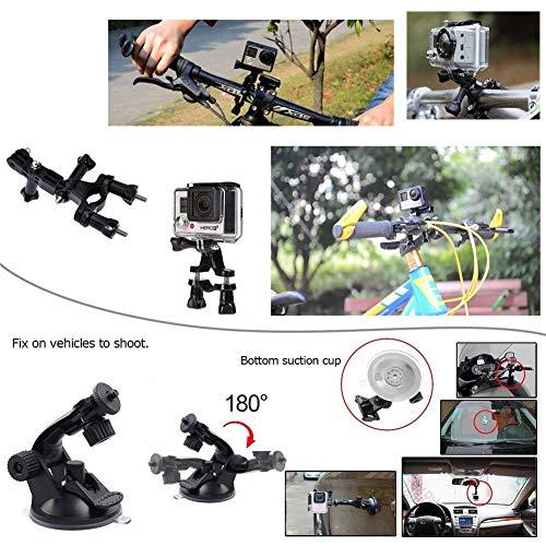 JINGMAN Accessori Action Camera supporta GoPro GoPro gopro7 6 maggio per la maggior parte delle fotocamere di sport con un braccialetto (nero) di ccbetter