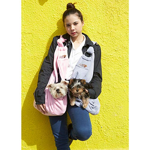 Alfie Pet - Chico 2.0 Revisible Pet Sling Carrier with Adjustable Strap - Color: Grey and Denim