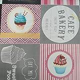 Hule | Mantel Mesa Antimanchas | Mantel Mesa Comedor y Mesa Cocina PVC Impermeable, para Interior y Exterior Diseño Cupcakes (140_x_140_cm)