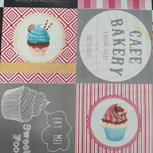 Hule | Mantel Mesa Antimanchas | Mantel Mesa Comedor y Mesa Cocina PVC Impermeable, para Interior y Exterior Diseño Cupcakes (140_x_200_cm)