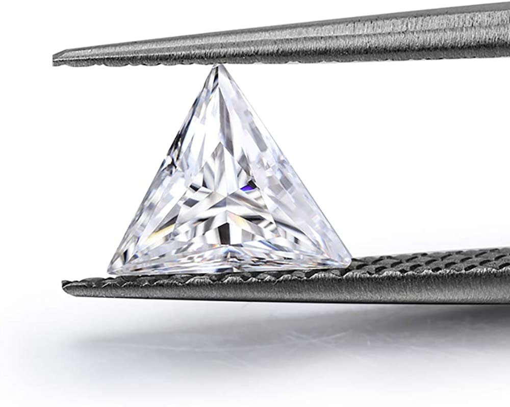 shop Triangle cut 0.1CT to 3CT real lab stone diamon moissanite Cheap mail order shopping loose