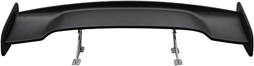Trunk Spoiler Compatible With Universal Vehicles | Gt Style Black Rear Spoiler Wing Tail Lid Finnisher Deck Lip by IKONMOTORSPORTS | 1997 1998 1999 2000 2001 2002 2003 2004 2005 2006 2007 2008 2009