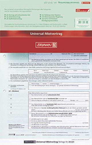 Brunnen - Contrato de alquiler universal (3 x 2 hojas)