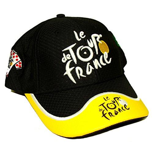 Casquette Tour de France Officielle avec Cuir - Noir