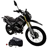 X-Pro Hawk DLX 250 EFI Fuel Injection 250cc Endure Dirt Bike Motorcycle Bike Hawk Deluxe Dirt Bike Street Bike Motorcycle with Motorcycle Cover(Black)